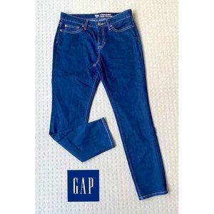 Gap Dark Blue Mid Rise Skinny Jeans AU10 Short